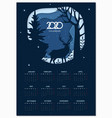 calendar 2020 basic grid winter paper cut vector image vector image