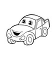 car with smile vector image