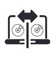 cd copy icon vector image vector image