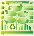 Collection of ecology signs vector image vector image