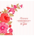 color garland flowers vector image vector image