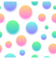 colorful abstract ball background seamless design vector image