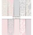 damask patterns set baroque ornament decor vector image vector image