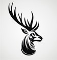 Deer Tattoo Design vector image vector image