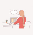 distant working online communication freelance vector image
