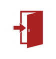 door icon vector image vector image