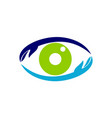 eye care solutions vector image vector image