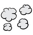 freehand drawn cartoon puff of smoke vector image vector image