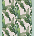 green tropical leaves pattern background vector image vector image