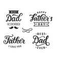 Happy fathers day greeting hand lettering badges