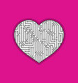 heart sign with circuit board pattern vector image