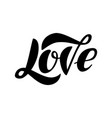 lettering word love isolated on the white vector image vector image