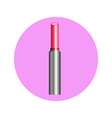 lipstick in circle vector image vector image