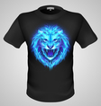 Male tshirt with lion print vector image vector image