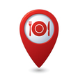 Map pointer with restaurant icon vector image