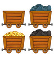 Mining products in wooden carts