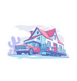 mobile home building vector image vector image