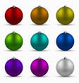 modern colorful christmas balls set vector image
