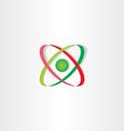 molecule icon atom symbol logo vector image vector image