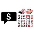 Money Message Flat Icon with Bonus vector image vector image