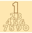 Numbers made of coffee beans vector image