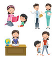 of occupations vector image