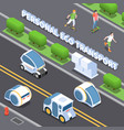 personal eco transport background vector image vector image