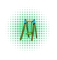 Playground swing icon comics style vector image vector image