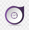 purple clock icon geometric background imag vector image vector image