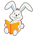 Reading Bunny vector image vector image