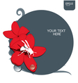 red flower with insect vector image vector image