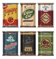 Retro food cans collection vector | Price: 3 Credits (USD $3)