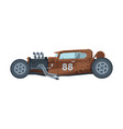 retro style race car old sports brown vehicle vector image vector image