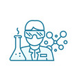 scientist in a uniform bespectacled with a test vector image vector image
