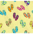seamless background with beach slippers