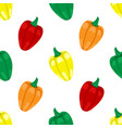 seamless pattern with peppers vector image