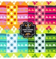 seamless simple pattern set vector image vector image