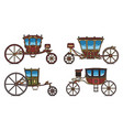 set dormeuse chariot or royal carriage vector image vector image