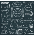 Set of restaurant menu design elements vector image vector image