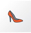 shoe colorful outline symbol premium quality vector image vector image