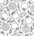 Sketched tomatoes pattern vector image