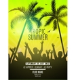 Summer beach party design template Party people vector image vector image