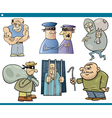 thieves and thugs cartoon set vector image