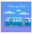 Travel Banner Tourism Industry Train Travel vector image vector image