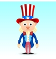 Uncle Sam character vector image vector image