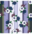 Vertical seamless patterns with provence flowers vector image vector image