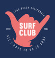 vintage surfing emblem for web design surfer logo vector image vector image