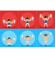 Weightlifting animation frames vector image