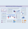 winter vacation infographic vector image