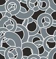 Grey circle seamless pattern Grey abstract vector image